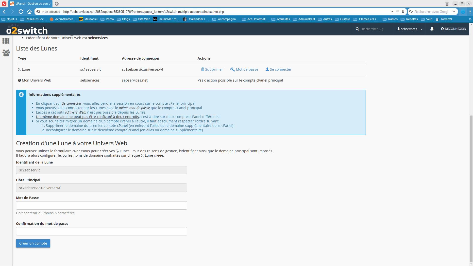 Gestion univers web 2 - Seb Services Informatique Belfort